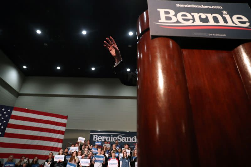 Democratic 2020 U.S. presidential candidate Sanders conducts campaign rally in Sioux City