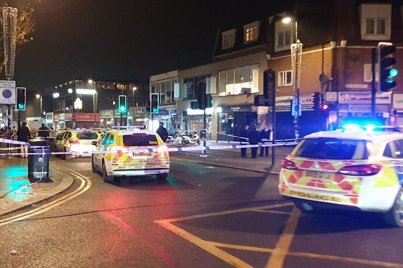 Police and medics arrived at the scene by Turnpike Lane station at about 11.15pm (London999)