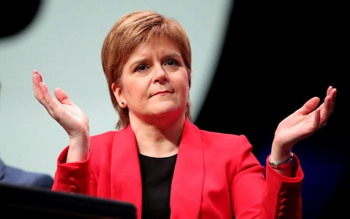 First Minister Nicola Sturgeon during the SNP autumn conference at the SEC, Glasgow - Jane Barlow/PA