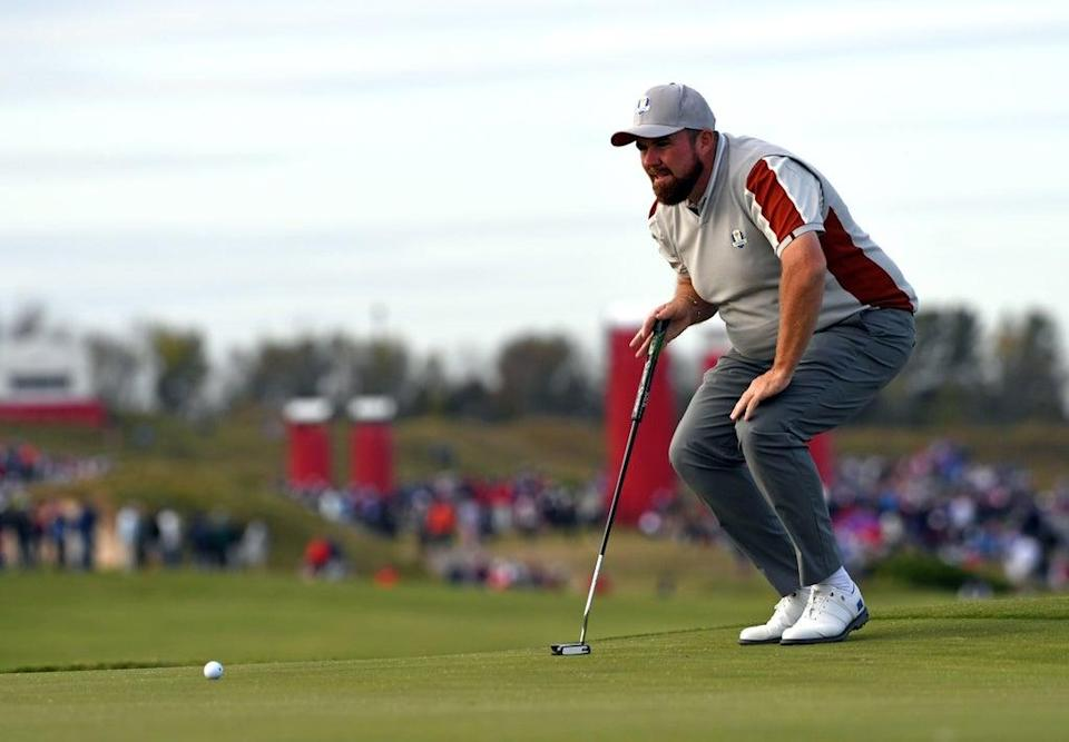 Team Europe's Shane Lowry on the 16th green during day two of the 43rd Ryder Cup at Whistling Straits, Wisconsin (Anthony Behar/PA) (PA Wire)