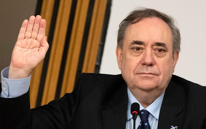 Alex Salmond appearing before the Holyrood inquiry last Friday - PA