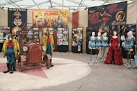<p>Costumes and props gathered together on the day Yahoo visited the set of <i>Dumbo</i> in 2017. (Disney) </p>