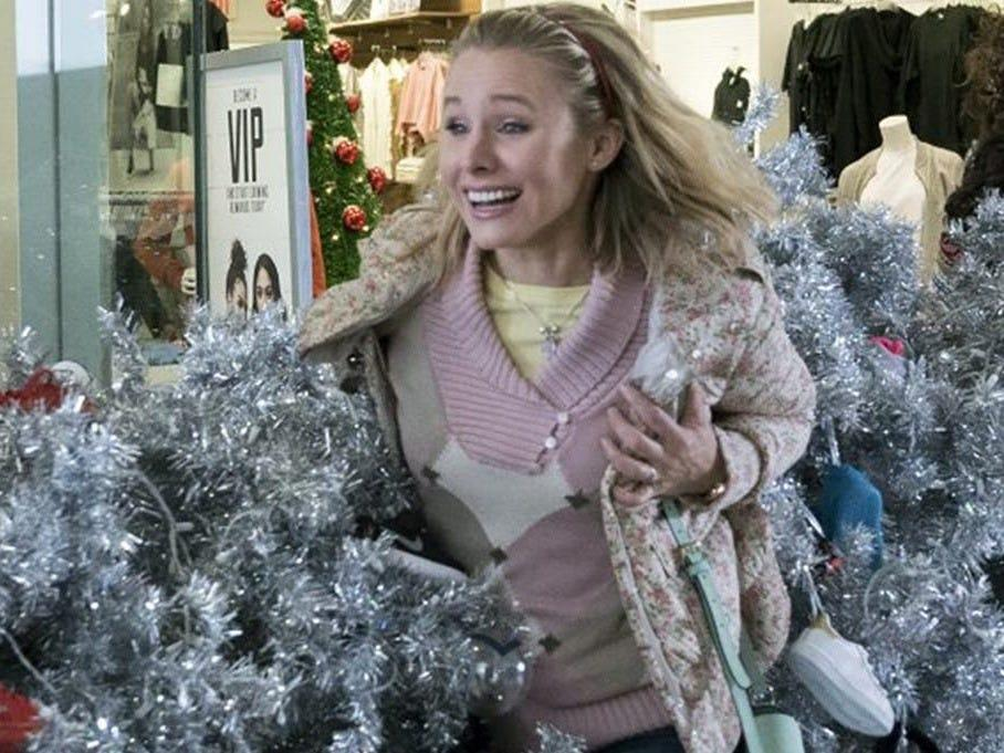 "Kristen Bell reprised her role as Kiki in ""A Bad Moms Christmas."""