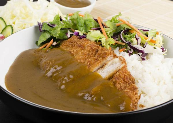 Yōshoku is a general term for dishes inspired by western cuisine. Pictured here is katsu curry.