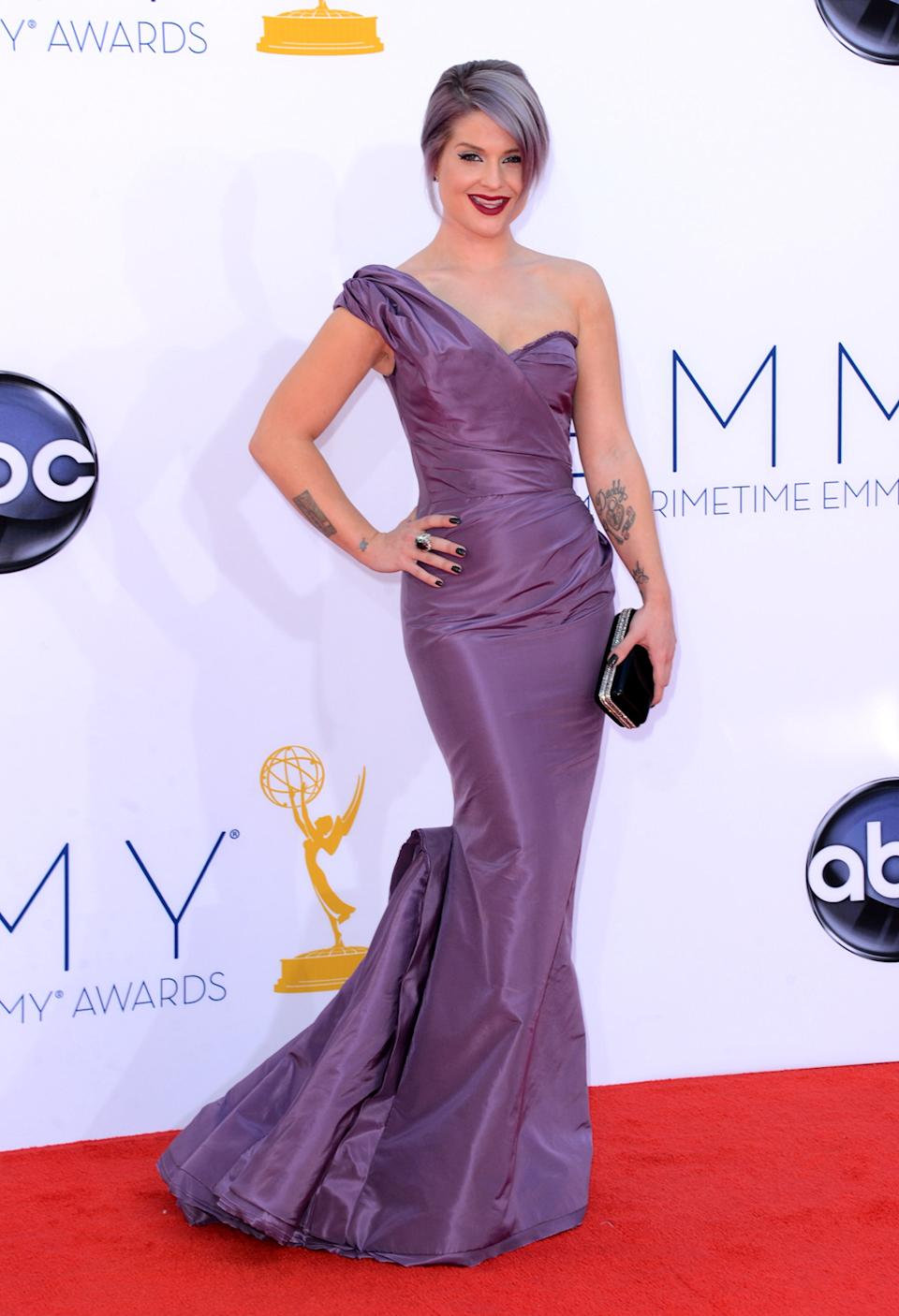 TV personality Kelly Osbourne arrives at the 64th Primetime Emmy Awards at the Nokia Theatre in Los Angeles on September 23, 2012. (Photo by Jason Merritt/WireImage)
