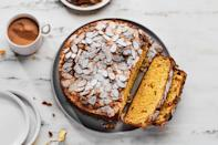 "This version of Italian Easter bread, or colomba di Pasqua, is flavored with vanilla, almond, and candied orange peels. The traditional dove-shaped loaves take about 18 hours to make, but we've broken the process into several easy steps with an option for baking in springform pans. <a href=""https://www.epicurious.com/recipes/food/views/italian-easter-bread-106404?mbid=synd_yahoo_rss"" rel=""nofollow noopener"" target=""_blank"" data-ylk=""slk:See recipe."" class=""link rapid-noclick-resp"">See recipe.</a>"