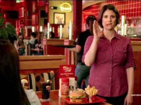 red robin vegetarian ad