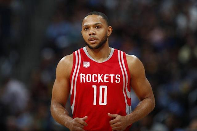 "<a class=""link rapid-noclick-resp"" href=""/nba/players/4469/"" data-ylk=""slk:Eric Gordon"">Eric Gordon</a> joined the <a class=""link rapid-noclick-resp"" href=""/nba/teams/hou/"" data-ylk=""slk:Houston Rockets"">Houston Rockets</a> last offseason and immediately thrived. (AP)"