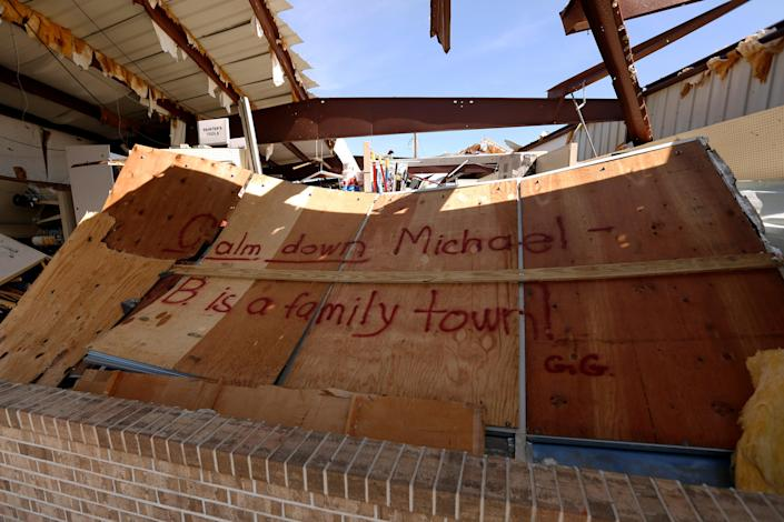 <p>A building damaged by Hurricane Michael is pictured in Mexico Beach, Fla., Oct. 11, 2018. (Photo: Jonathan Bachman/Reuters) </p>