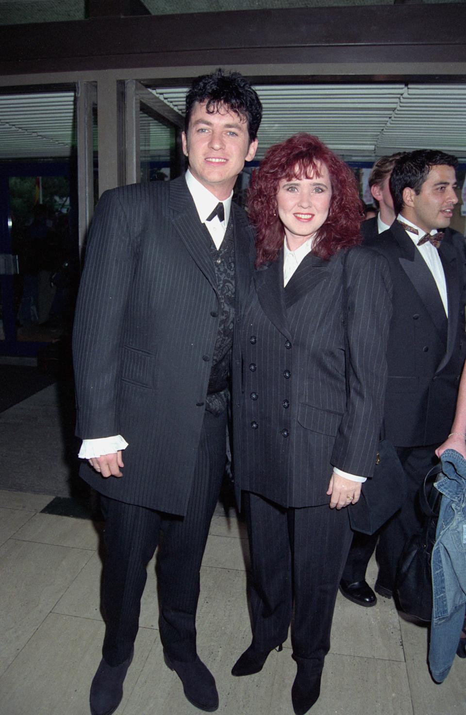 Coleen Nolan with then-husband Shane Richie in 1995. (Photo by Dave Benett/Hulton Archive/Getty Images)