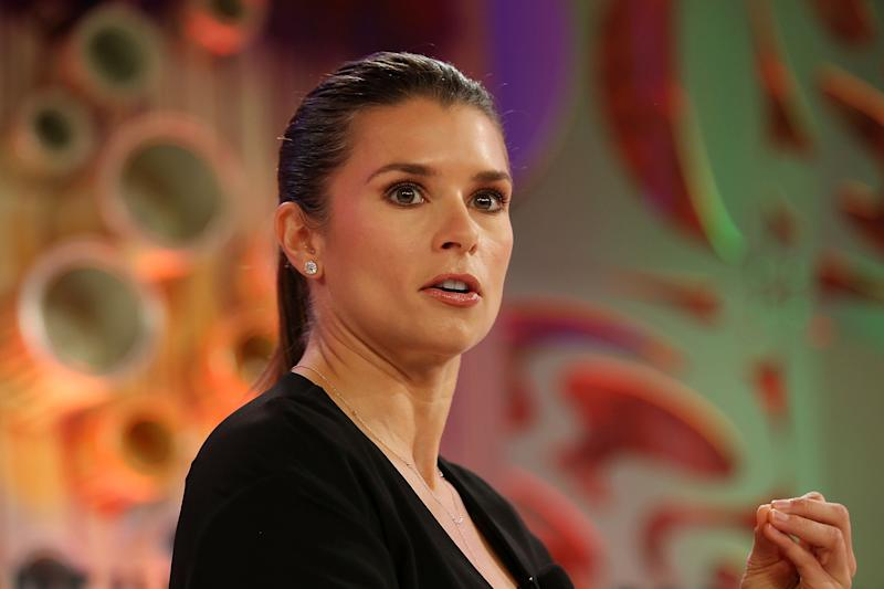 LAGUNA NIGUEL, CA - OCTOBER 02: Danica Patrick speaks onstage at the Fortune Most Powerful Women Summit 2018 at Ritz Carlton Hotel on October 2, 2018 in Laguna Niguel, California. (Photo by Phillip Faraone/Getty Images for Fortune)