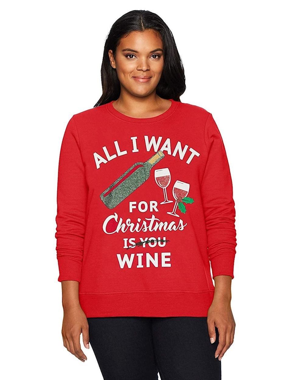 """<p>If this <a rel=""""nofollow noopener"""" href=""""https://www.popsugar.com/buy/Just%20My%20Size%20Women%27s%20Ugly%20Christmas%20Sweatshirt-386139?p_name=Just%20My%20Size%20Women%27s%20Ugly%20Christmas%20Sweatshirt&retailer=amazon.com&price=17&evar1=tres%3Aus&evar9=45495879&evar98=https%3A%2F%2Fwww.popsugar.com%2Flove%2Fphoto-gallery%2F45495879%2Fimage%2F45495890%2FJust-My-Size-Women-Ugly-Christmas-Sweatshirt&list1=shopping%2Camazon%2Csweaters%2Choliday%2Cchristmas%2Cwinter%2Cwinter%20fashion&prop13=mobile&pdata=1"""" target=""""_blank"""" data-ylk=""""slk:Just My Size Women's Ugly Christmas Sweatshirt"""" class=""""link rapid-noclick-resp"""">Just My Size Women's Ugly Christmas Sweatshirt</a> ($17) isn't us, we don't know what is.</p>"""