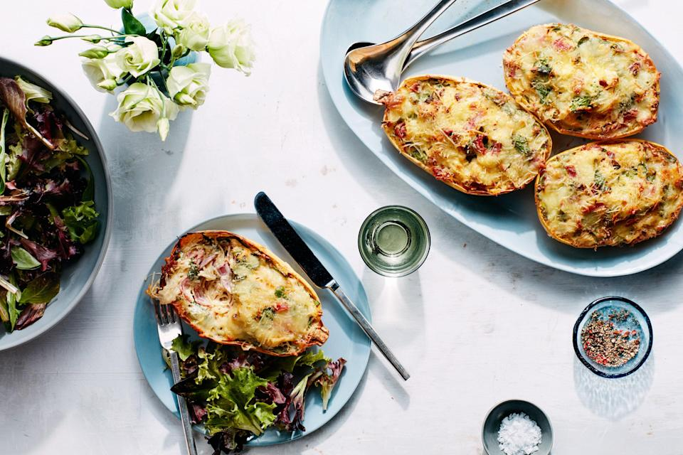 Step aside twice-baked potatoes, twice-baked spaghetti squash is in town.