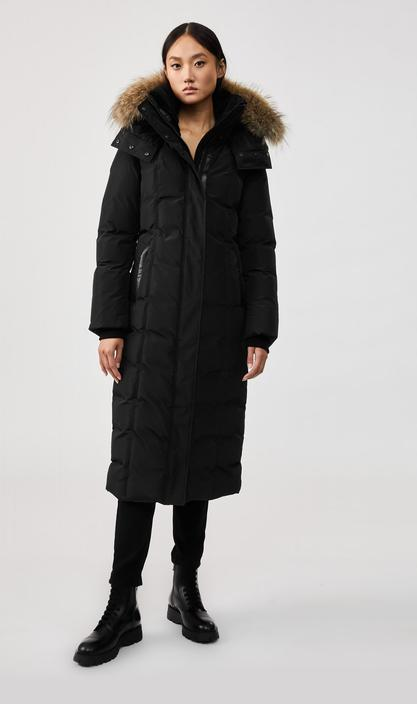 JADA maxi down coat with removable natural fur trim, Mackage, $863 (originally $1,150)