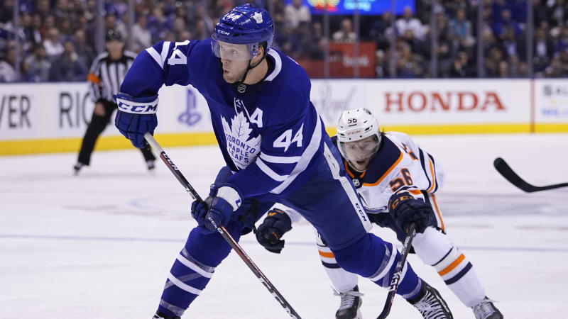 Toronto Maple Leafs defenceman Morgan Rielly revealed he's been playing with an undisclosed injury this season. (John E. Sokolowski-USA TODAY Sports)