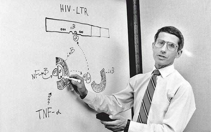 1950; research into Aids, 1990 - George Tames/Eyevine