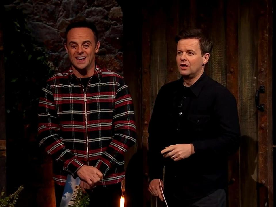 Ant and Dec in I'm a Celebrity (ITV)