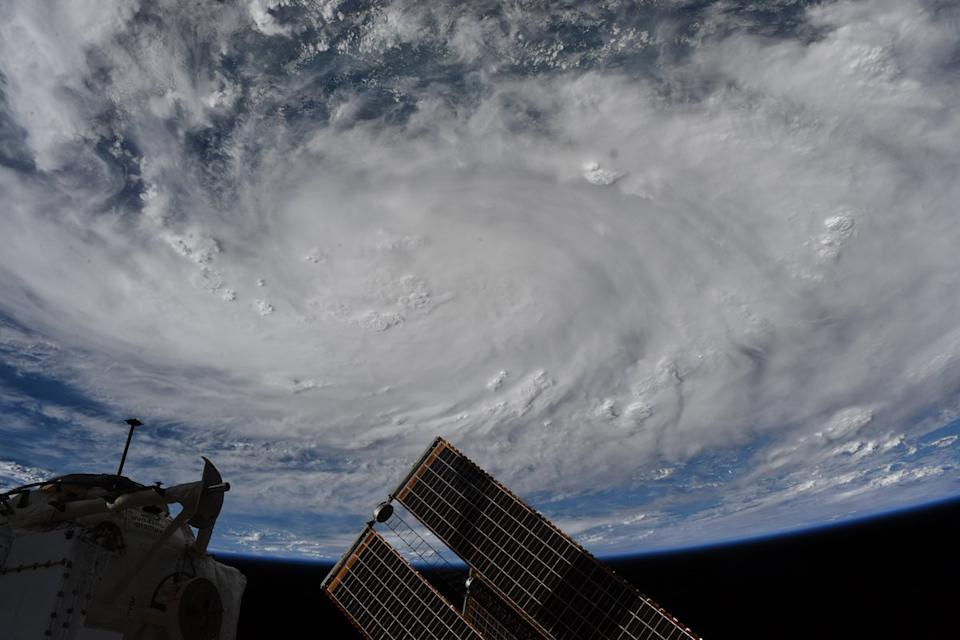 "NASA astronaut Bob Behnken snapped this incredible photo of Hurricane Hanna (now classified as a tropical storm) from the International Space Station this past Friday (July 24.) ""Snapped this photo of the storm in the Gulf of Mexico on Friday as it was starting to have observable structure from @Space_Station. #HurricaneHanna,"" Behnken wrote on Twitter."