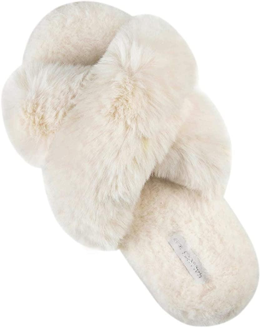 <p>Customers have been going crazy for these soft <span>Halluci Fluffy Slippers</span> ($24).</p>