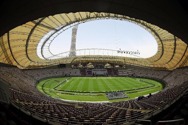 A request by the South American Football Confederation that the 2022 World Cup be enlarged from 32 to 48 teams might present problems for the host Qatar (AFP Photo/KARIM JAAFAR)