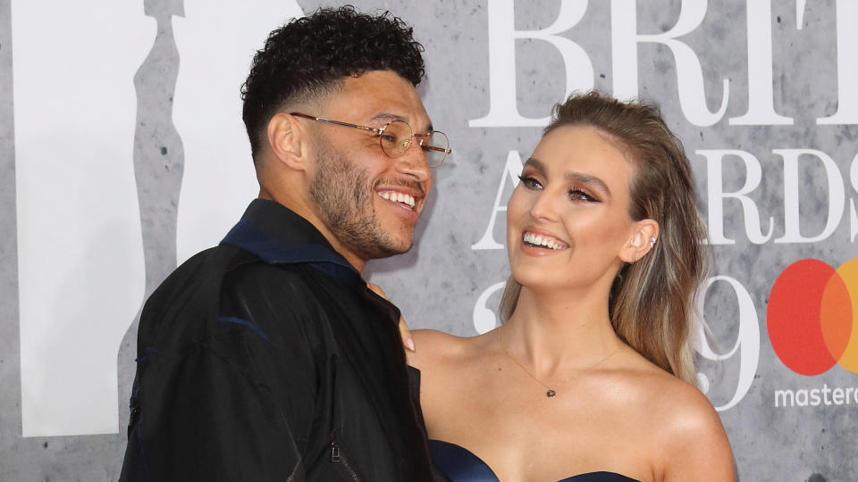 Perrie Edwards and Alex Oxlade-Chamberlain have become parents for the first time. (Keith Mayhew/SOPA Images/LightRocket via Getty Images)