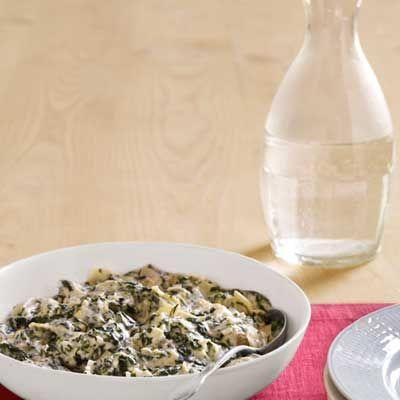 """<p>A cross between dip and creamed spinach, this creamy side pairs well with your favorite protein.</p><p><strong><a href=""""https://www.countryliving.com/food-drinks/recipes/a4078/creamed-spinach-artichokes-shallots-recipe-clx0312/"""" rel=""""nofollow noopener"""" target=""""_blank"""" data-ylk=""""slk:Get the recipe"""" class=""""link rapid-noclick-resp"""">Get the recipe</a>.</strong></p>"""