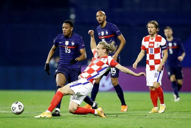 Mbappe scores as France beats Croatia 2-1 in Nations League