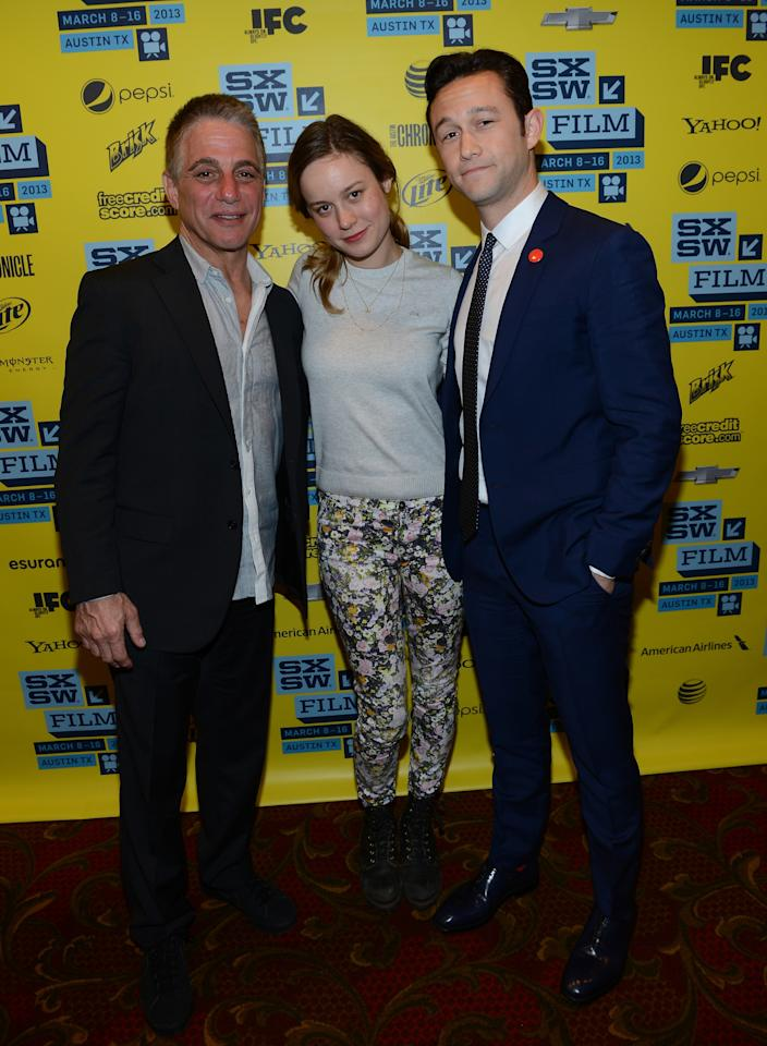 "AUSTIN, TX - MARCH 11:  Actor Tony Danza, actress Brie Larson and director Joseph Gordon-Levitt attend the Green Room Photo Op for ""Don Jon's Addiction"" during the 2013 SXSW Music, Film + Interactive Festival at the Paramount Theatre on March 11, 2013 in Austin, Texas.  (Photo by Michael Buckner/Getty Images for SXSW)"
