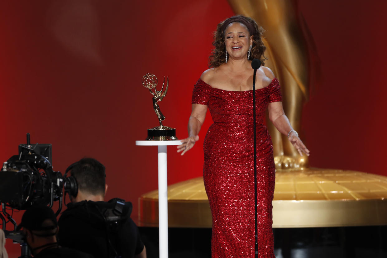 Debbie Allen accepts the Governors Award at the 73rd Emmy Awards.