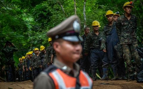 Thai Military wait for more water pumps - Credit: Lauren DeCicca/Getty Images