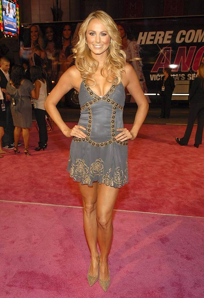 "Stacy Keibler is hot enough to be a Victoria's Secret Angel herself! The former female wrestler revealed that she stays fit by working out four to five times a week. Kevin Mazur/<a href=""http://www.wireimage.com"" target=""new"">WireImage.com</a> - November 15, 2007"