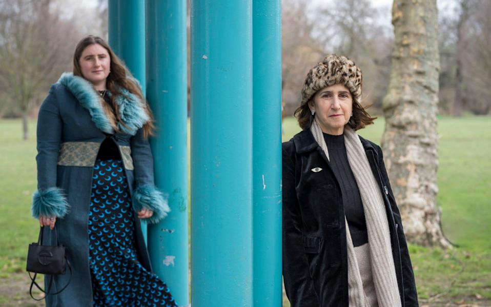 Marina Wheeler, right, is raising awareness of cervical cancer with the help of Lara - Andrew Crowley/The Telegraph