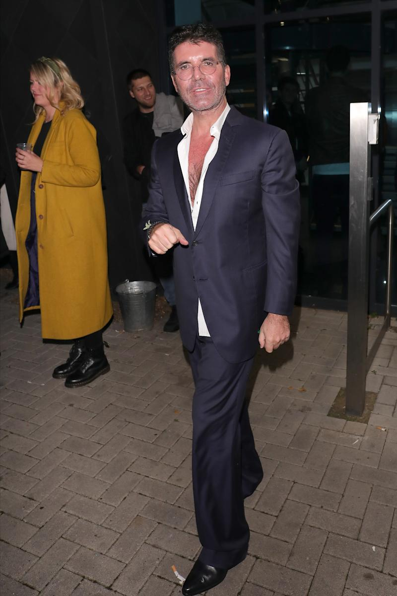 Simon Cowell leaving LH2 studios after Celebrity X Factor on November 16, 2019 in London. [Photo: Getty]