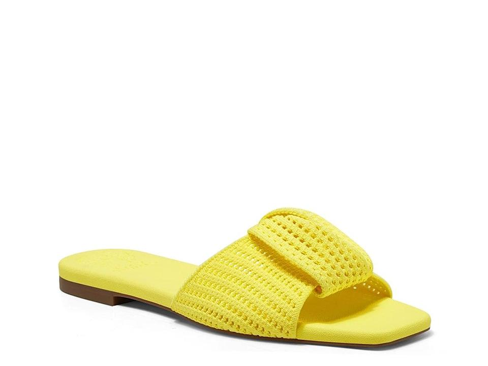<p>Add some color to any look with the <span>Vince Camuto Skylinna Slide Sandals</span> ($40).</p>