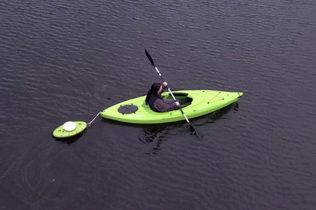 The CreekKooler Pup is a floating cooler that can used out on the water to keep beverages and snacks ice cold for days at a time. Shaped like a kayak, the Pup is even designed to track like a boat out on the water.