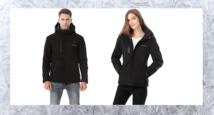 This line of heated outerwear is on sale now - but only for today!