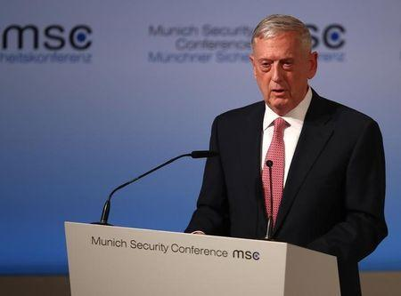 U.S. Defense Secretary Mattis speaks at the opening of the 53rd Munich Security Conference in Munich