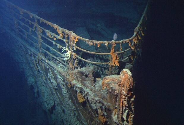 The Titanic remains on the ocean floor off Newfoundland and Labrador, where it sank after striking an iceberg in 1912.