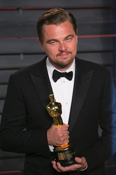 """Leonardo DiCaprio finally won the Oscar for Best Actor in 2016 for his work on """"The Revenant"""" (AFP Photo/ADRIAN SANCHEZ-GONZALEZ)"""