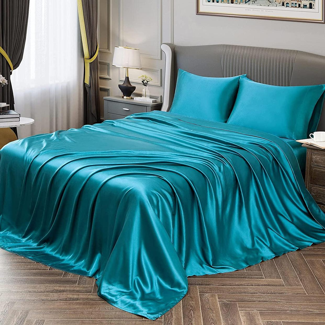 Your bed has never felt more luxe. (Photo: Amazon)