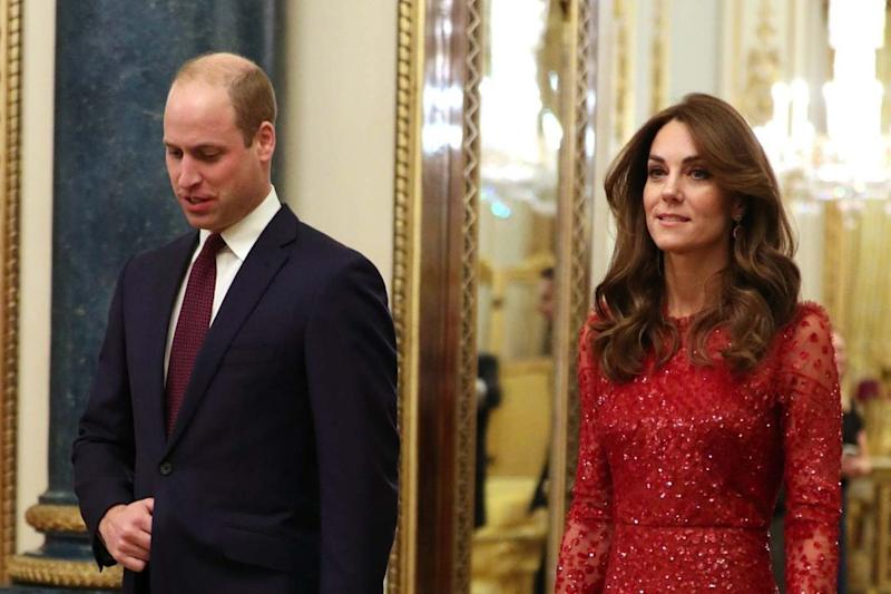 The Duke and Duchess of Cambridge at a reception at London's Buckingham Palace (PA)