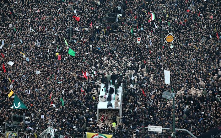 Iranians pay homage to General Qassim Soleimani - MOHAMMAD TAGHI/AFP