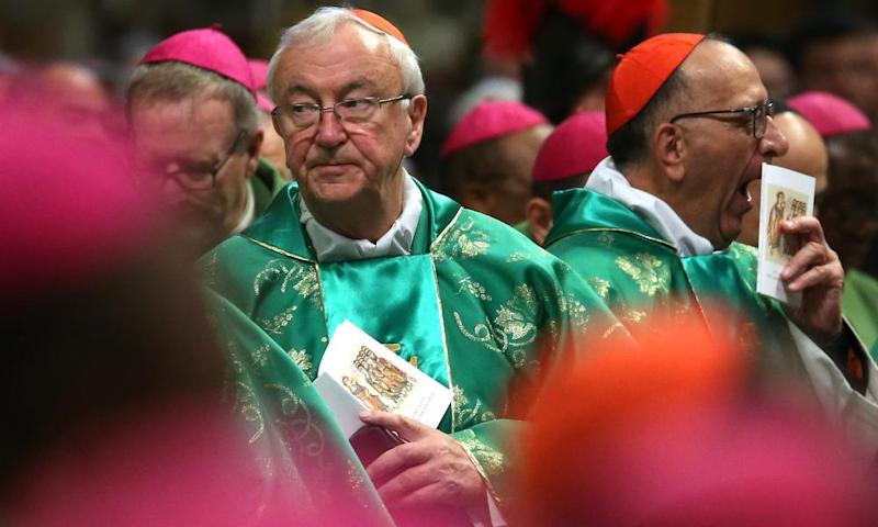 Vincent Nichols, the archbishop of Westminster, at St Peter's Basilica in Rome on 28 October.