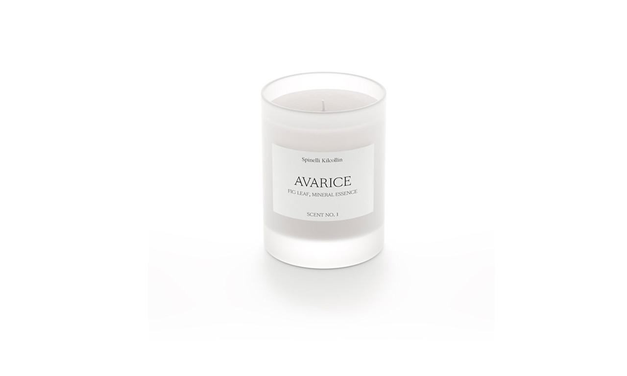 """<p>Avarice candle, $68,<a rel=""""nofollow"""" href=""""https://www.spinellikilcollin.com/products/avarice""""> spinellikilcollin.com</a> </p>"""
