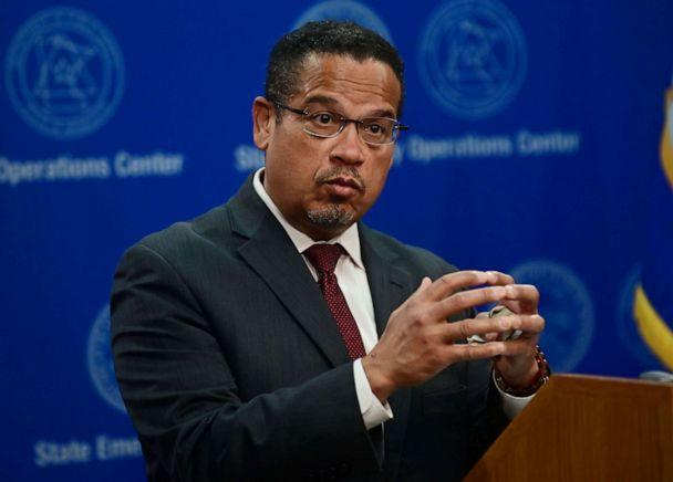 PHOTO: Minnesota Attorney General Keith Ellison answers questions about the investigation into the death of George Floyd during a news conference in St. Paul, Minn., May 27, 2020. (John Autey/Pioneer Press via Reuters)