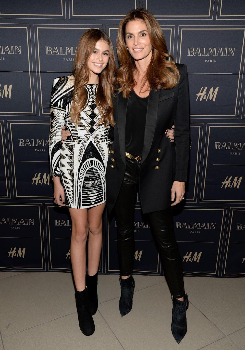 <p>Like mother, like daughter. The Crawford women wore Balmain to the Balmain x H&M Los Angeles VIP Pre-Launch. </p>