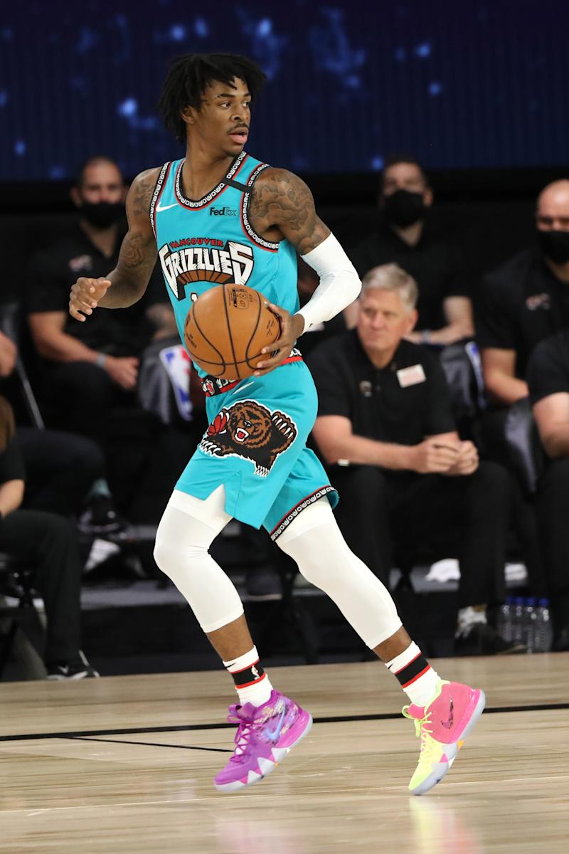 Ja Morant of the Memphis Grizzlies, in Orlando, Florida, August 5, 2020.