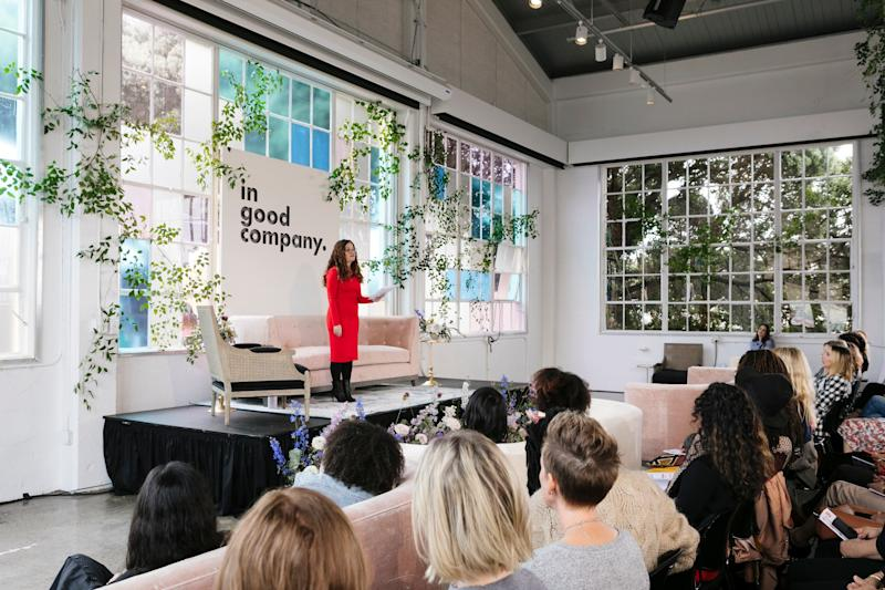 Darcy Lockman delivers the keynote speech at In Good Company, a San Francisco conference geared toward entrepreneurial women and mothers.