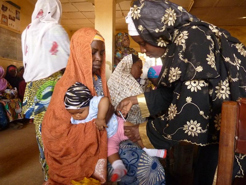 There has been no new case of polio in Nigeria for almost a year, following a vaccination drive (AFP Photo/Ben Simon)