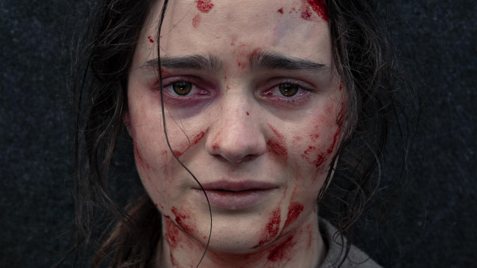 Aisling Franciosi in 'The Nightingale'. (Credit: Vertigo Releasing)